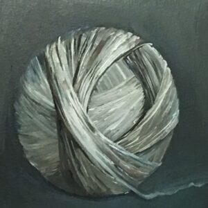 schilder een bol wol