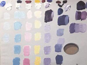 kleurtonen in wit