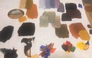 Mengen van vergrijsde kleuren